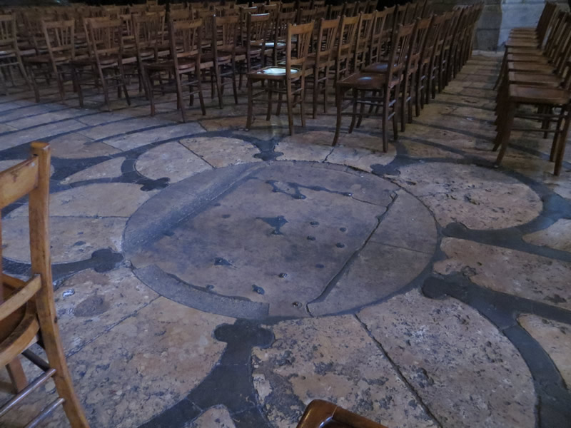 Photo du labyrinthe de la Cathédrale de Chartres