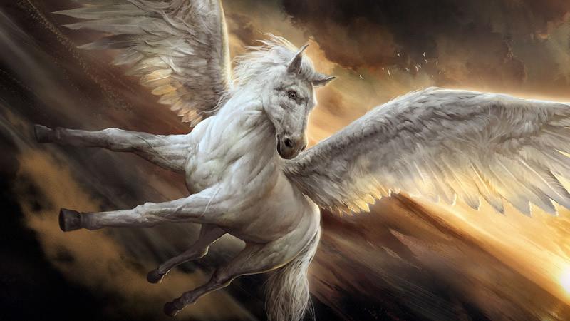 Pégase cheval ailé de la mythologie