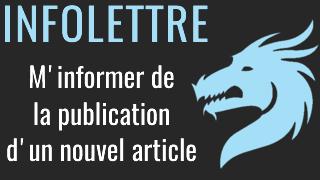 Infolettre ou newsletter Le Retour des Dragons