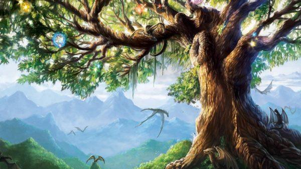 Yggdrasil ou l'Arbre de Vie dans le Coeur sacré