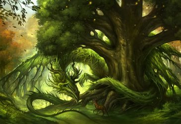 Dragon vert des forêts