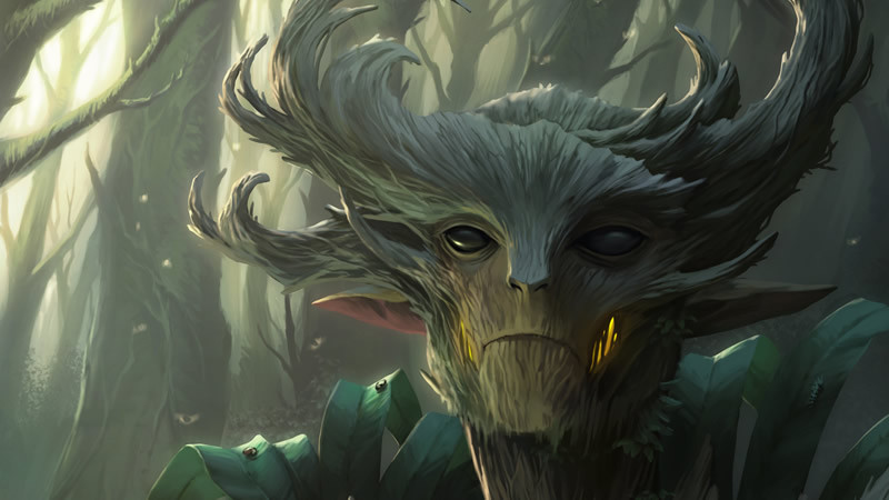 The forest spirit warden of the spirits of nature or nature spirits