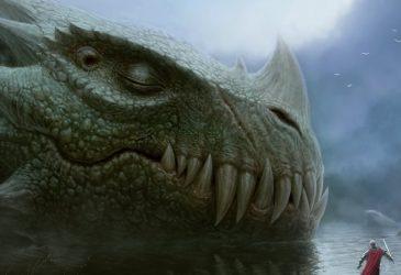 Dragon gardien de la porte de l'intraterre ou terre intérieure