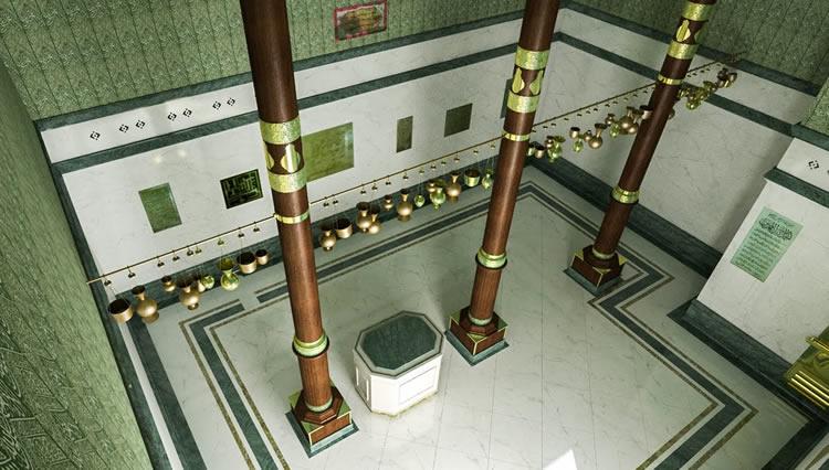 Intérieur de la Kaaba à La Mecque